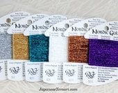 Metallic Thread Sampler Set - 6 colors of Nordic Gold by Rainbow Gallery