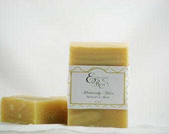 Heavenly Hair Shampoo Soap Bar  - Solid Shampoo Soap Bar - Natural Shampoo Bar