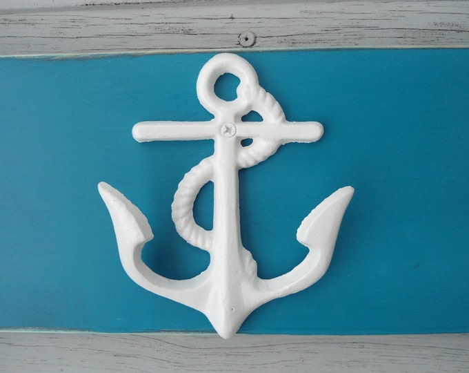anchor towel hook nautical beach decor mud room foyer outdoor shower sports equipment bathing suits pool outside cottage BeachHouseDreams