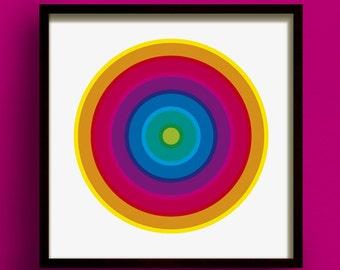 Hoopla No.2 - Square Giclee Print