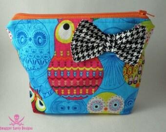 Matryoshka Owls Zipper Pouch Makeup Bag