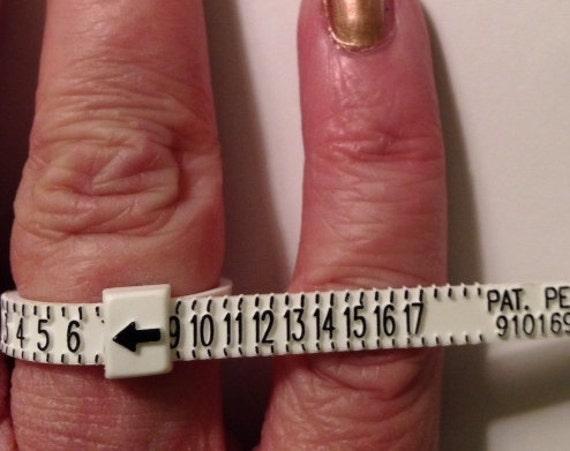 Plastic economy ring sizer  US ring sizes