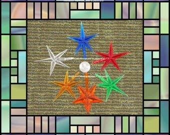 Ceramic Christmas Tree Star, Large  Replacement Stars Large  fits Atlantic or Vintage trees 18 inch Supplies  blue clear green red