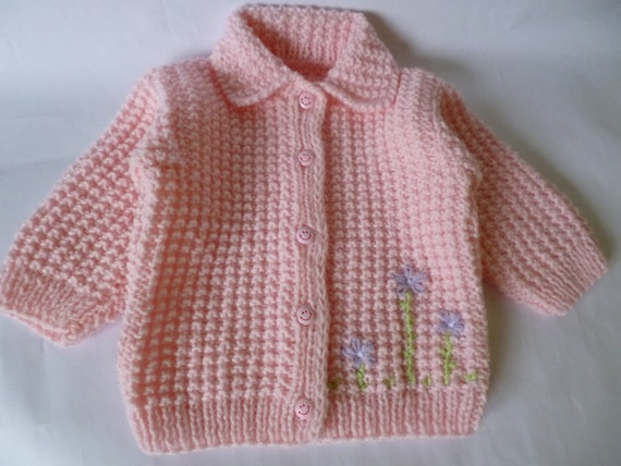 SALE Baby Sweater, Warm Sweater, Winter Sweater, Baby Girl Coat, Size 12 Months, Knit Baby Sweater, Handmade Sweater, Clothing for Babies.