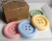 Cute as a Button Soap Set - Goat Milk Soap - gift for Her -Shaped soap - baby shower favors - soap favors - Christmas gift - for her - cute