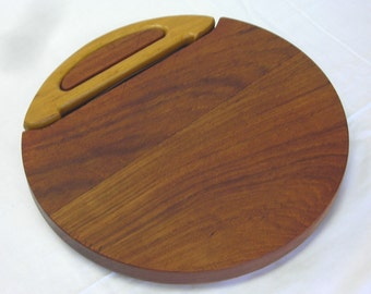 Dansk Teak Cheese Serving Board With Wire Cheese Cutter IHQ Quistgaard Duck Logo Vintage