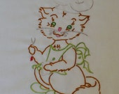 Kitten Chef Dish Towel