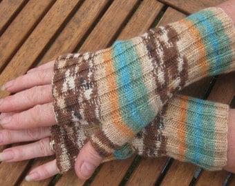 Fingerless Mittens - Fingerless Gloves -  Hand  Warmers - Wrist Warmers.  Hand knit. Val300. FREE SHIPPING