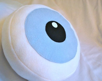 Giant Ominous Blue Eyeball Pillow