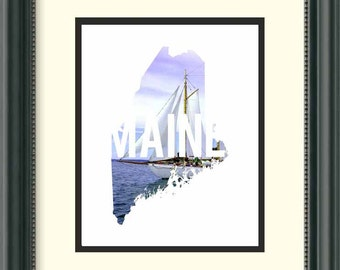 Maine - Sailboat - Digital Download