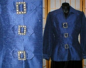 Reserved for Maria 50s  Lilli Ann jacket with rhinestone buttons womens size small