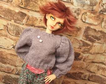 Knitted pullover for Bjd SD Girls