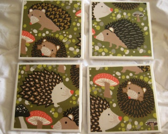 Hedgehog Awesome Coaster Set