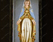 The Blessed Mother Virgin Mary Statue at Sacre Coeur, Montmartre Paris, France Original Fine Art Photography Print