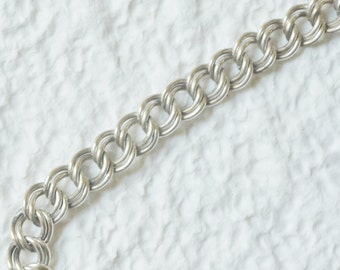 Sterling Silver Link Bracelet - Vintage - Perfect for charms