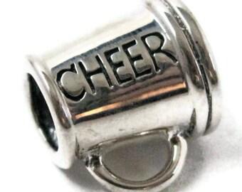 Cheerleading Megaphone Charm Bracelet Bead 925 Sterling Silver