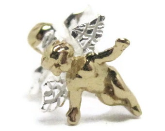 Cupid Charm Bracelet Bead 925 Sterling Silver with Gold Plating