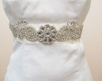 Rhinestone Crystal Beaded Bridal Wedding  Belt