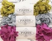 Seam Binding Ribbon, Shabby Crinkled Purple,Silver,Green, Rayon Ribbon, French Vintage,Scrapbooking, Bear Making, Australia, Medieval Castle