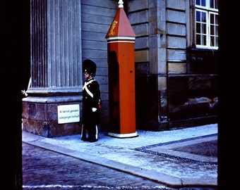 35mm slides from 1962 of the changing of the guard at Amalienborg Palace in Copenhagen