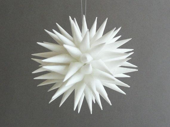Modern Paper Porcupine Ornament