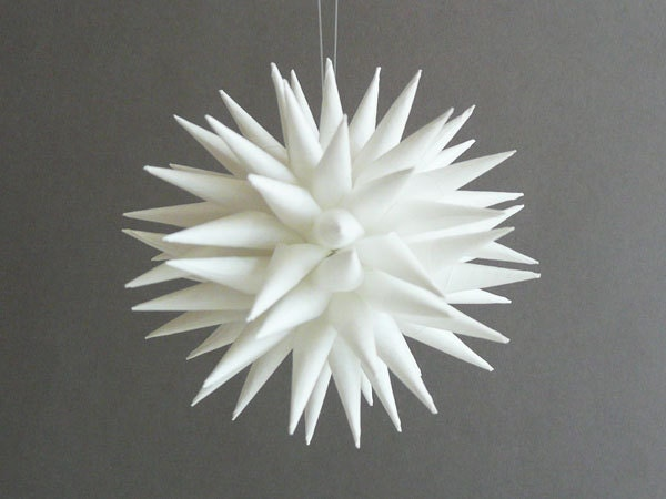 items similar to white polish star ornament christmas