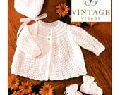 INSTANT DOWNLOAD under a dollar-baby cardigans- 3 styles- vintage knitting pattern-pdf email delivery