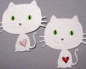 Cat, White Cat, Feline, Kitty, Kitten, Pet Lover, Pets, Paper Piecings, Scrapbooking, Card Toppers, Favor Tags, Party Decor, Classroom Decor