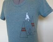Tribal Mountains T Shirt Women TriLemon Sizes Small through XLarge