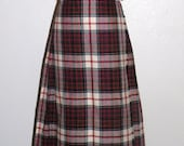 Scottish Clanwear Red Plaid KILT made in Scotland S to M