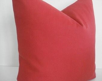 BOTH SIDES-RED-- Indoor/Outdoor-- Decorative Designer Pillow Cover-Geometric - Deep  Red Throw / Lumbar Pillow
