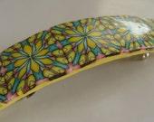 Polymer Clay Barrette or Scarf Clip