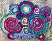 Free Form Crochet Scrumble with Irish Crochet elements