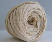 T-Shirt Yarn Hand Dyed - Lightest Beige 30 Yards THICK
