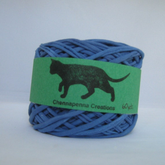 T shirt yarn tshirt yarn hand dyed blue 60 yards from for T shirt printing st charles mo