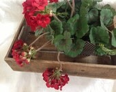Rustic Wood Box with Handles, Shabby Chic