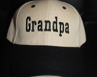 Grandpa-Embroidered Baseball Hat
