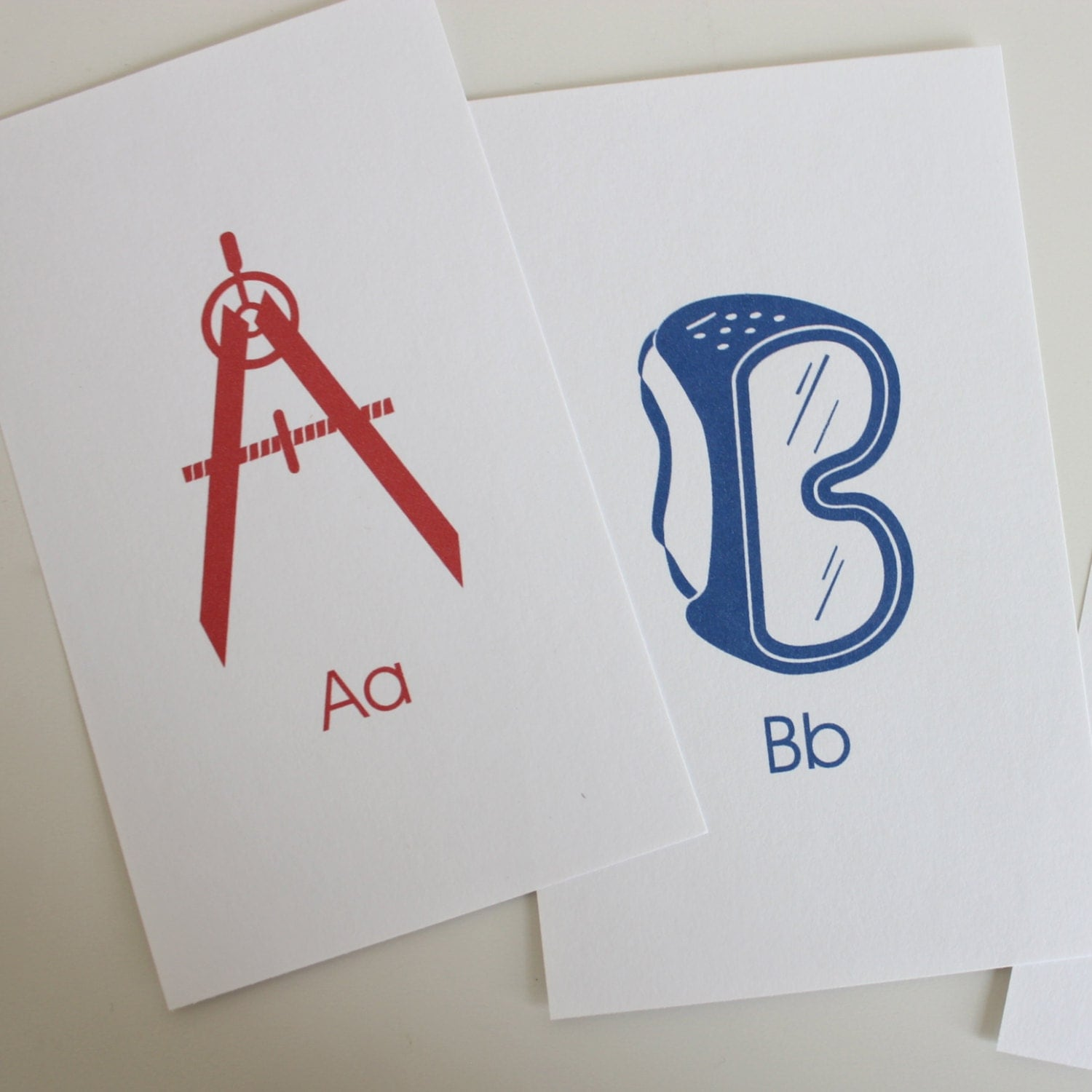 toolbox alphabet flash cards 3x5 printable pdf blue red