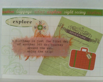 Retro Adventure Birthday Card