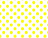 WINTER SALE - Medium Dots in Neon Yellow - C490-103 - 1 Yard - Riley Blake Designs