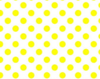 SPRING SALE - Medium Dots in Neon Yellow - C490-103 - 1 Yard - Riley Blake Designs