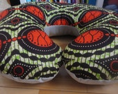 Reserved listing for Brooklyn BAP - Modern African Print and Flax Hemp Nursing Pillow