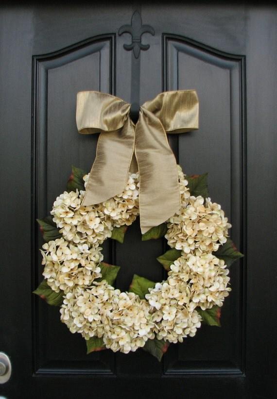 Hydrangeawedding Decor Wedding Wreaths Champagne By