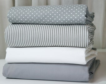 Queen duvet cover Reversible custom made - Choose your fabric for each side - 32 colors