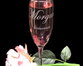 7 Personalized Champagne Glasses, Hen Party Gifts, Bachelorette Party Present for Women