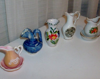Instant Collection of Small Pitcher Figurines (3)