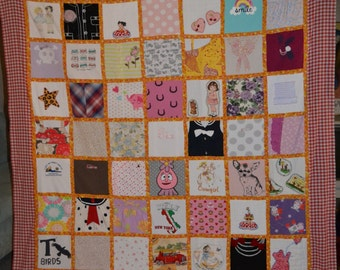 63-Twin Baby Clothes Quilt