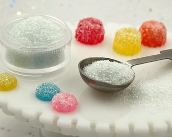 Fake Sugar - Amazing Fake Sugar Powder - Realistic Gumdrop Candy or Dessert Topping - For Making Faux Food Crafts or Decoden