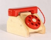 Wooden Eco-Friendly Toddler Telephone