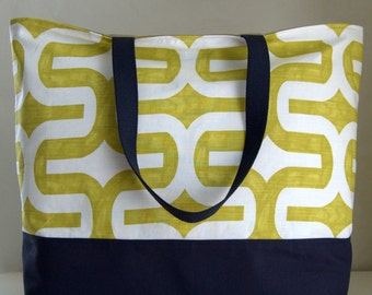 Chartreuse Embrace XL Extra Large BIG Tote Bag / Beach Bag